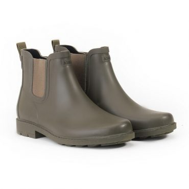 Aigle Ladies Carville Ankle Rubber Boots in Kaki Matt