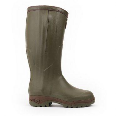 Aigle Parcours 2 ISO Open Wellington Boots in Kaki