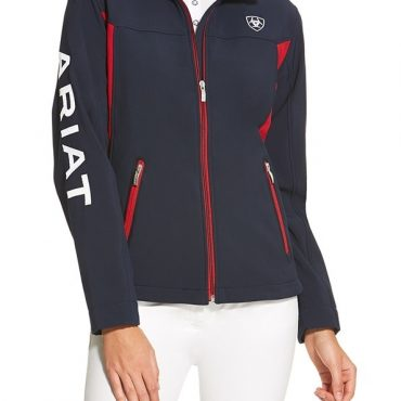 Ariat Ladies New Team Softshell Jacket in Navy