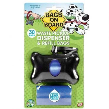 Bone Waste Bag Despenser  - Black