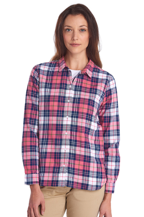 Front of the Barbour Ladies Haley Shirt