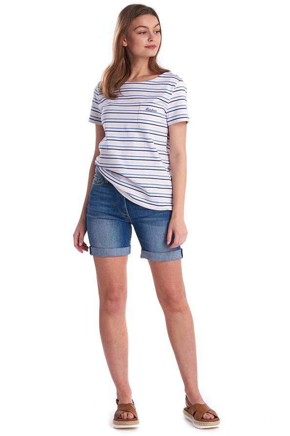 Get the look of the Barbour Ladies Short Sleeve Hawkins Stripe Top