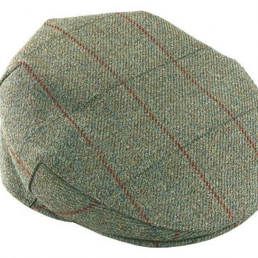 Bonart Foxhound Tweed Cap in Green