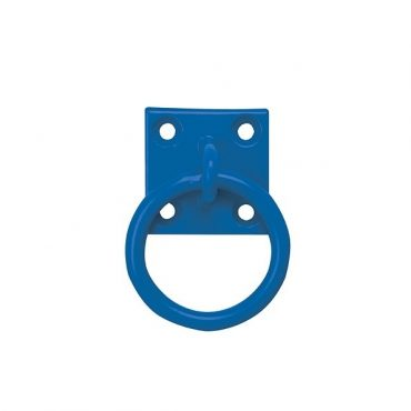 Chain Ring on Plate in Blue