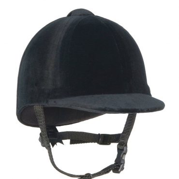 Champion Junior CPX3000 Velvet Riding Hat in Black
