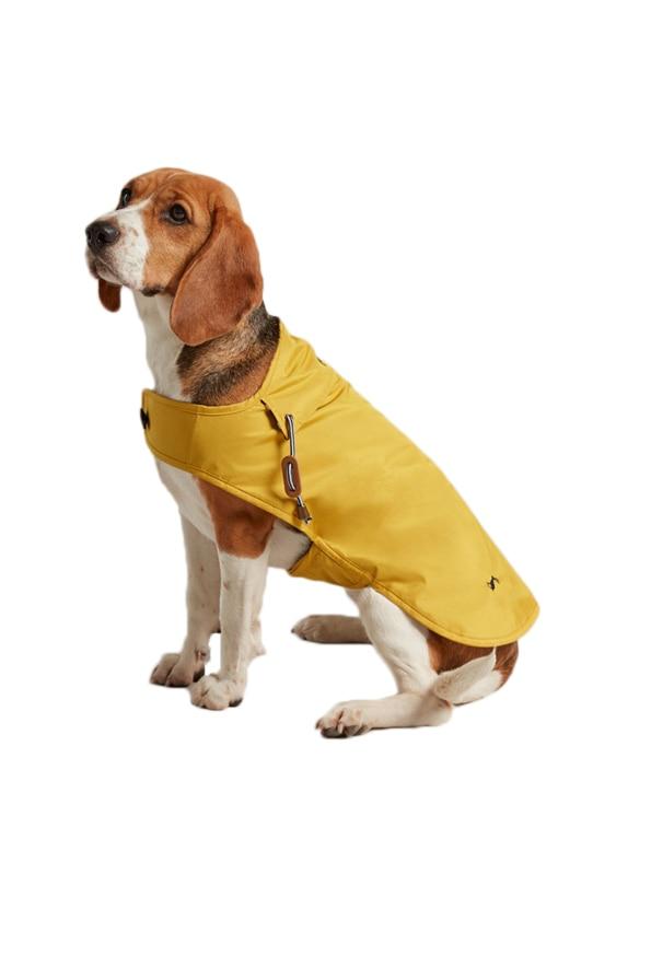 Joules Water Resistant Dog Coat in Mustard Yellow