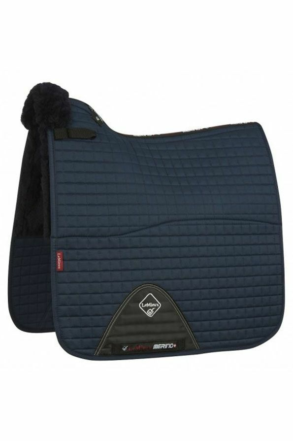 LeMieux Half Lined Cotton Dressage Square in Navy