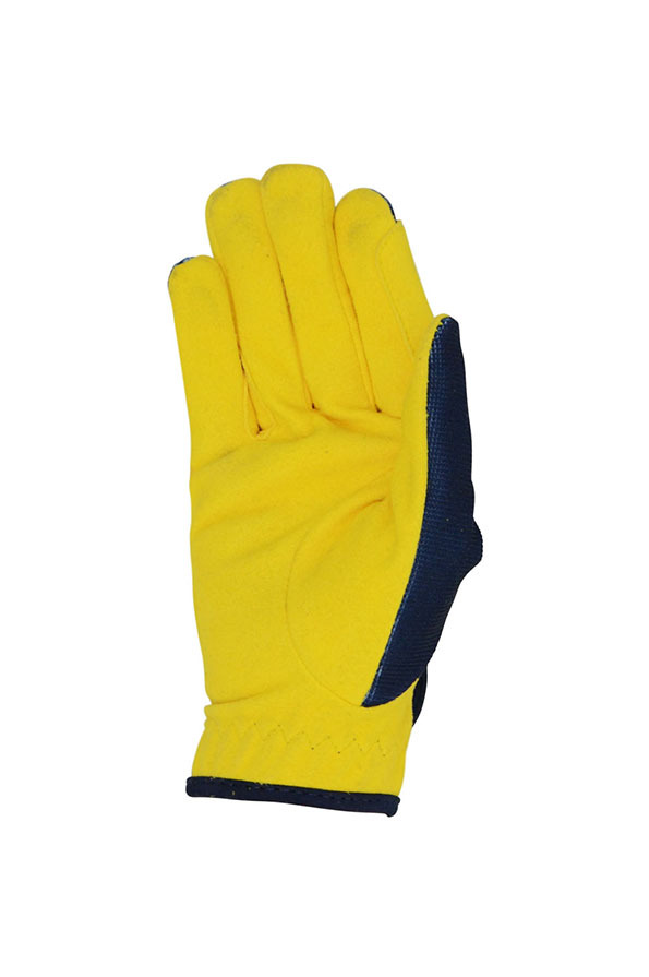 Little Knight Childrens Lancelot Riding Gloves Back in Yellow/Navy