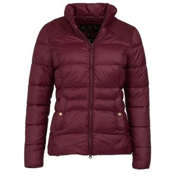 Barbour Ladies Brecon Quilted Jacket - Bordeaux