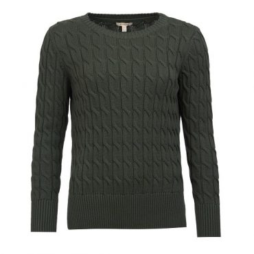 Barbour Ladies Lewes Knit - Wilderness Green