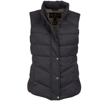Barbour Ladies Meadow Gilet - Taupe Herringbone