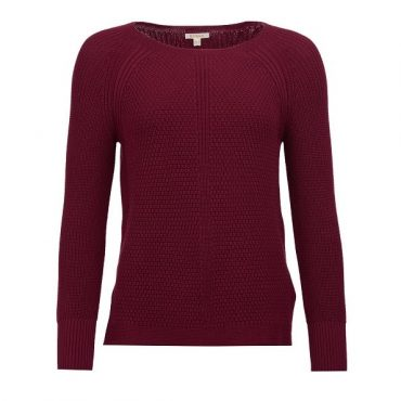 Barbour Ladies Stirling Knit - Soft Bordeaux