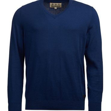 Barbour Mens Alfreton V Neck - Blue