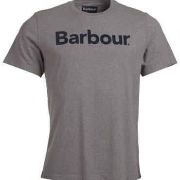Barbour Mens Logo Tee - Grey Marl