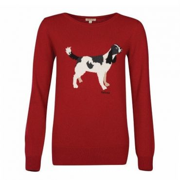 Barbour Ladies Hambledon Knit - Chilli Red
