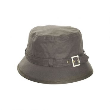 Barbour Ladies Kelso Wax Belted Hat - Olive