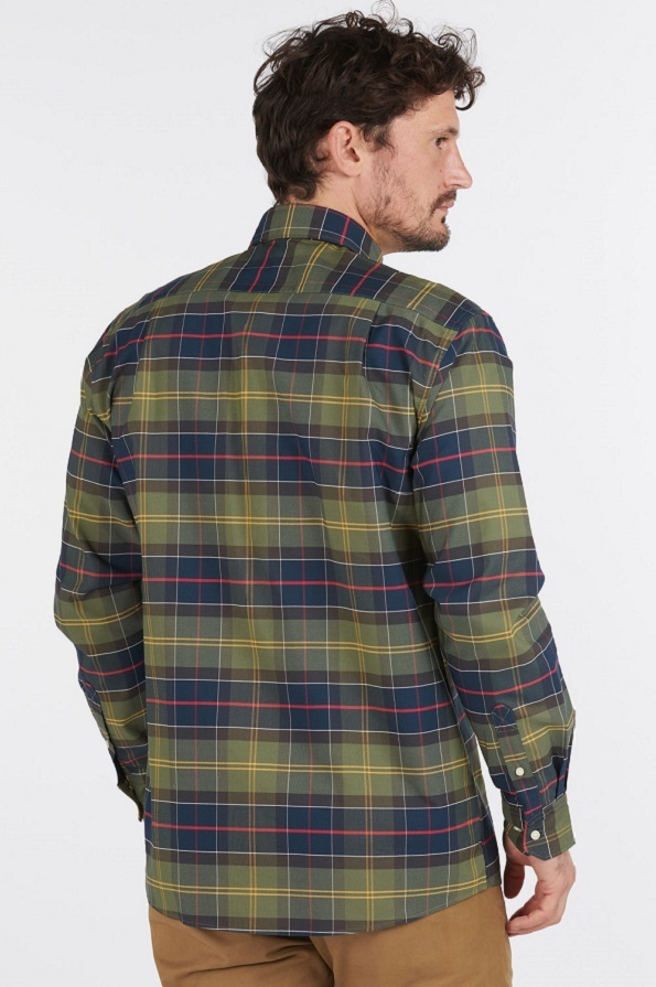 Barbour Mens Fultan Coolmax Shirt - Classic - Back