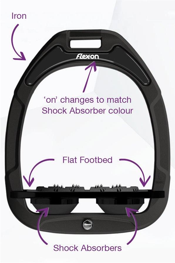 Flex-On Flat Ultra Grip Customisable Green Composite Stirrups