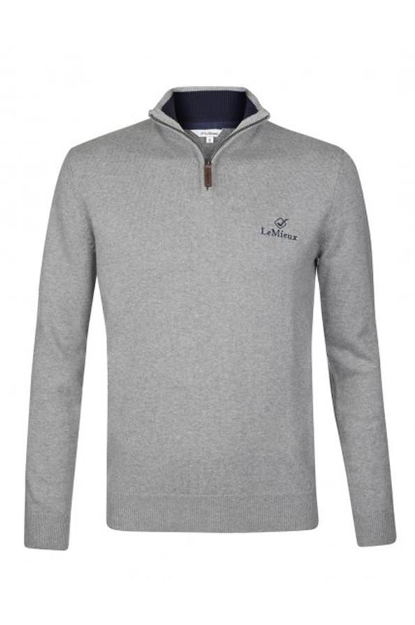 LeMieux Monsieur Crew Jumper - Grey - Front