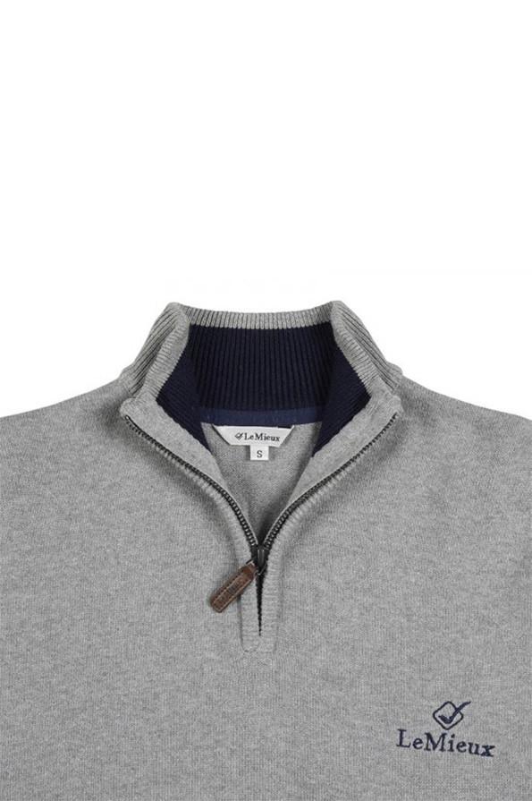 LeMieux Monsieur Crew Jumper - Grey - Collar