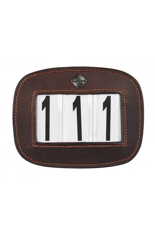 LeMieux Brown Leather Saddle Pad Number Holder