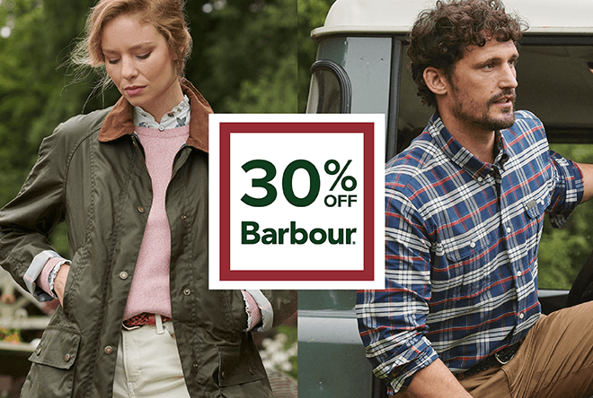 Barbour Sale Extra callout