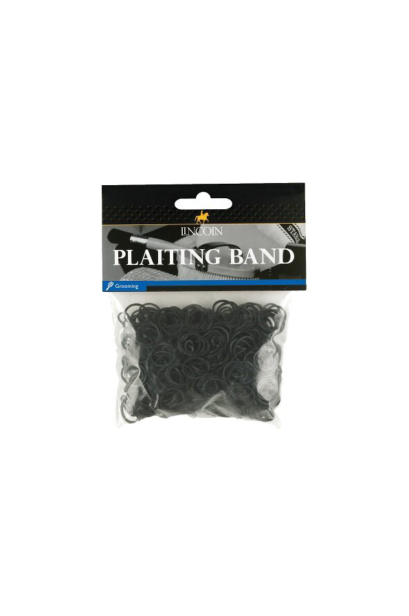 Lincoln Silicone Plaiting Bands - Black